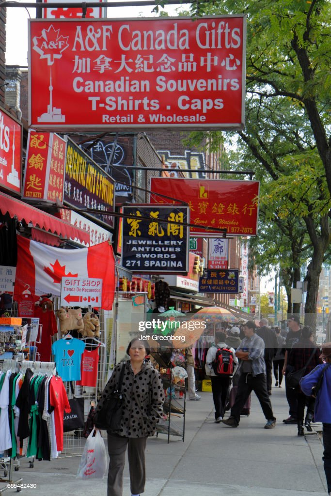 Toronto, Chinatown, gift shops  News Photo - Getty Images