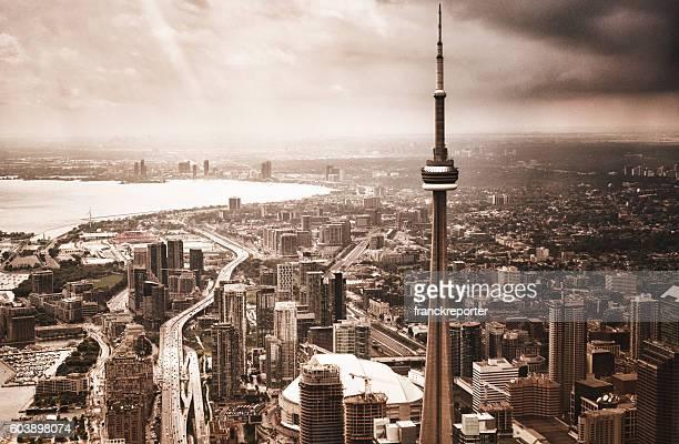Toronto city aerial view