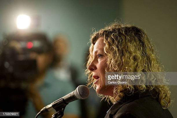 Toronto City Councillor Jaye Robinson talks to reporters about her departure from the mayor's executive committee Mayor Rob Ford is currently...