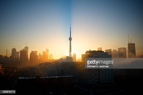 toronto city - sunrise dawn stock pictures, royalty-free photos & images