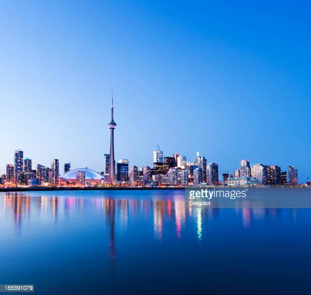 Toronto Skyline der Stadt bei Nacht in Kanada
