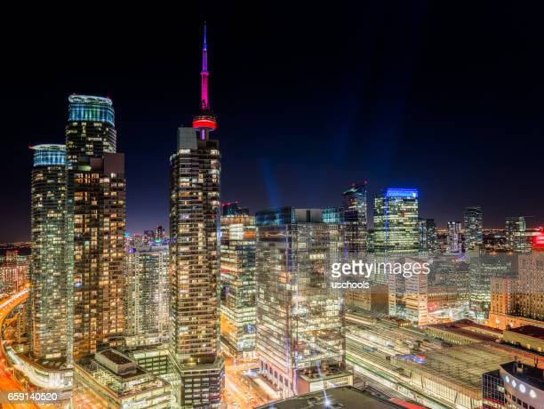 Toronto Cityscape at Night (Panorama)