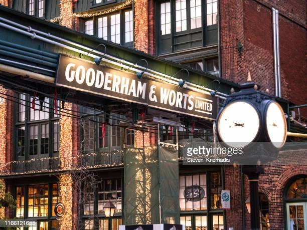 toronto - distillery district - historic district stock pictures, royalty-free photos & images