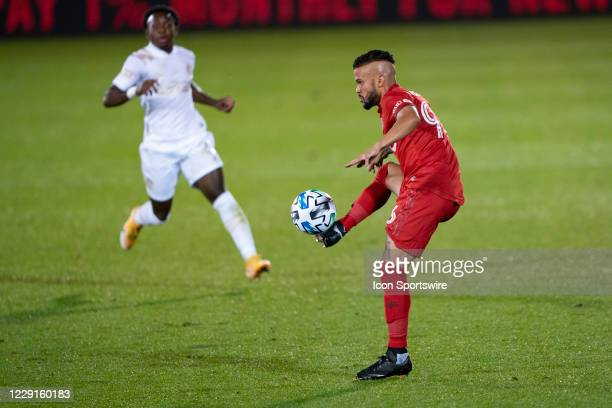 Toronto FC Defender Auro Jr controls the ball during the first half of a Major League Soccer match between the Atlanta United FC and the Toronto FC...