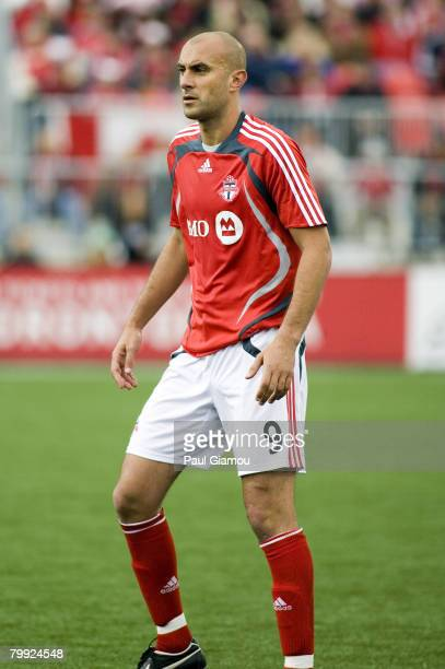 Toronto FC forward Danny Dichio during the home opening match against the Kansas City Wizards in Toronto Ontario Canada on April 28 2007 Kansas City...