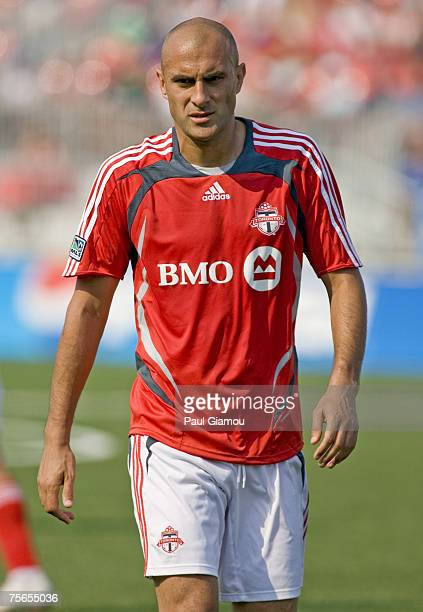 Toronto FC forward Danny Dichio during the match against the Colorado Rapids at BMO Field in Toronto Ontario Canada on June 2 2007 Toronto won the...