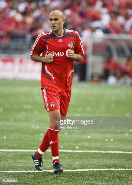 Toronto FC forward Danny Dichio runs during the match against the Kansas City Wizards on April 26 2008 at BMO Field in Toronto Ontario