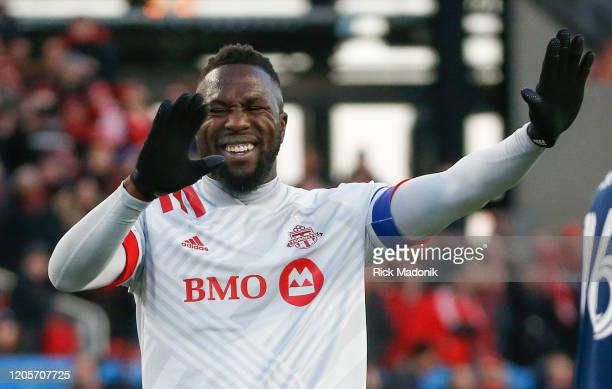 Toronto FC forward Jozy Altidore after a missed play in the offensive end Toronto FC vs Orlando City during 1st half action in MLS regular season...