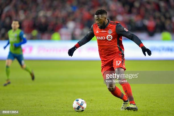 Toronto FC Forward Jozy Altidore prepares to pass the ball during the MLS Cup Final played between the Seattle Sounders and Toronto FC on December 09...