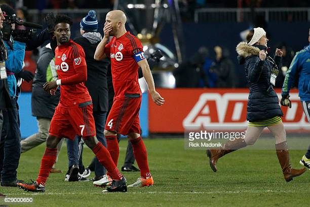 Toronto FC forward Will Johnson and Toronto FC midfielder Michael Bradley walk off the pitch after losing Toronto FC vs Seattle Sounders in 2nd half...
