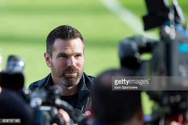 Toronto FC head coach Greg Vanney speaks to reporters after Toronto FC's MLS Cup training session on December 9 at BMO Field in Toronto ON Canada
