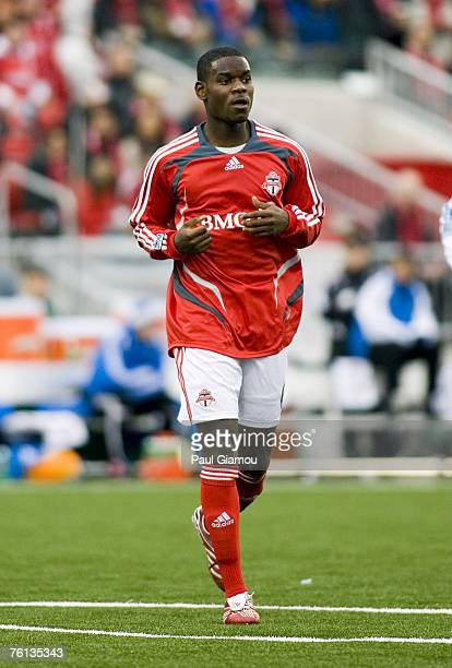 Toronto FC midfielder Maurice Edu during the home opening match against the Kansas City Wizards in Toronto Ontario Canada on April 28 2007 Kansas...