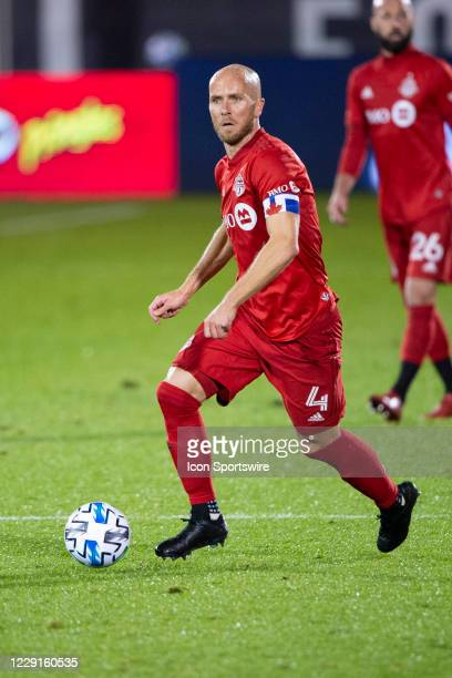 Toronto FC Midfielder Michael Bradley dribbles the ball during the second half of a Major League Soccer match between the Atlanta United FC and the...