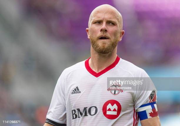 Toronto FC midfielder Michael Bradley during the MLS soccer match between the Orlando City SC and Toronto FC on May 4 at Orlando City Stadium in...