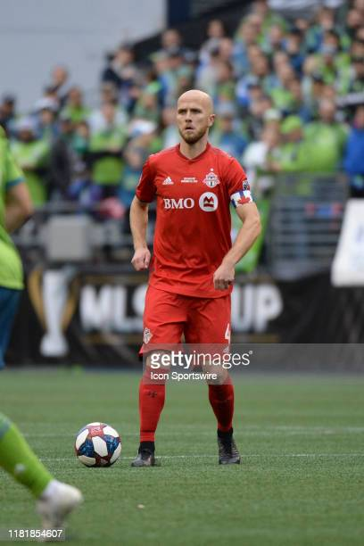 Toronto FC midfielder Michael Bradley in action during the MLS Championship game between the Seattle Sounders and Toronto FC on November 10 at...