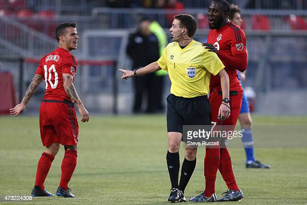 TORONTO ON MAY 13 Toronto FC midfielder Sebastian Giovinco looks for a call after being fouled as Toronto FC beats the Montreal Impact 32 in the...
