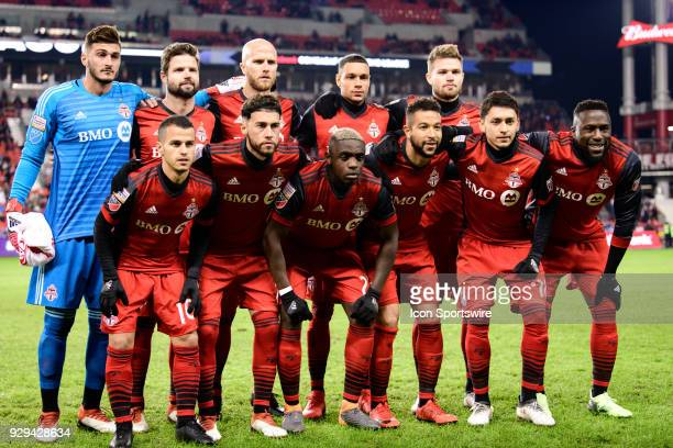 Toronto FC pose for a team picture before the CONCACAF Champions League Quarterfinal match between Toronto FC and Tigres UANL on March 7 at BMO Field...