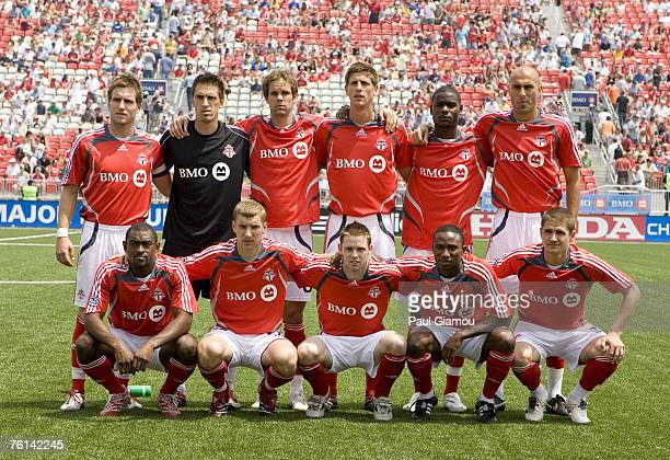 Toronto FC starting 11 prior to the match against FC Dallas at BMO Field in Toronto Canada on June 17 2007 Toronto won the match 40