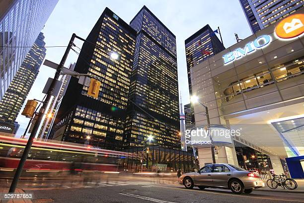 toronto financial district - financial district stock pictures, royalty-free photos & images