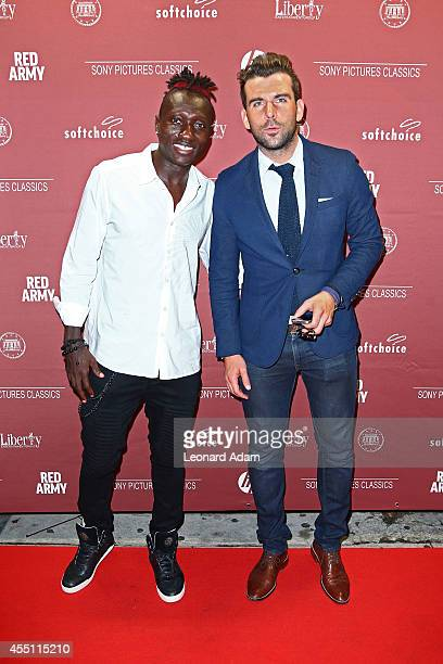 Toronto Football Club Players Dominic Oduro and Ryan Richter attend the 'Red Army' Official After Party during Toronto International Film Festival at...