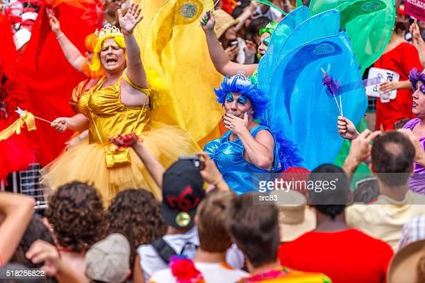 Toronto Gay Pride Parade participants in drag
