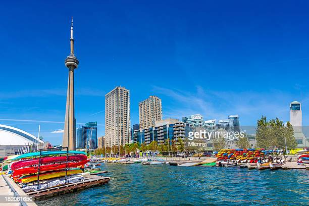 toronto harbour front in summer canada - passenger craft stock pictures, royalty-free photos & images