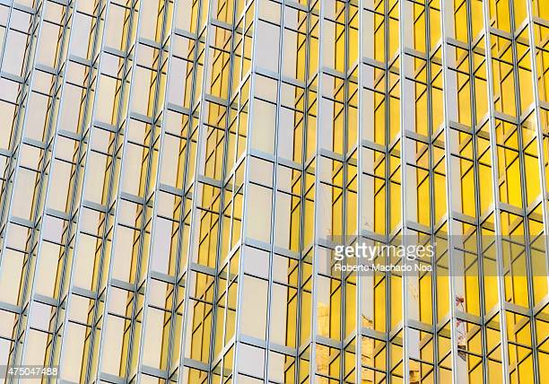 Toronto High rise architectural detail Eyecatching modern architectural design creates interesting city life