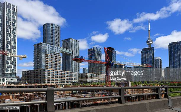 CONTENT] Toronto is undergoing a condo construction boom right now This image is taken from the Gardner Expressway looking over CityPlace a...
