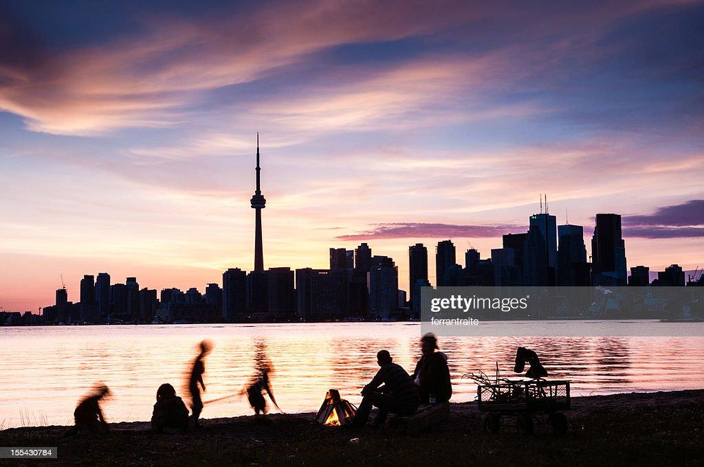 Toronto Island Family Picnic Canada : Stock Photo