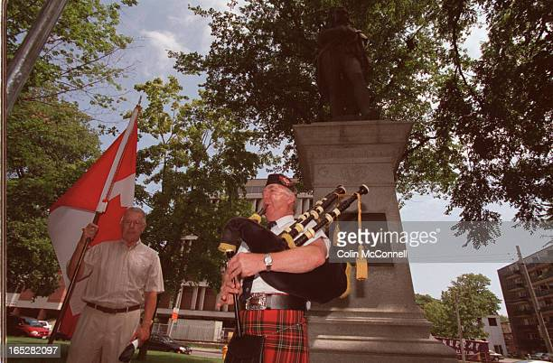 toronto july28 2002 mcconnell pics of piper david fraser playing the pipes at the rededication to the robert burns statue in allan gdns also pics of...