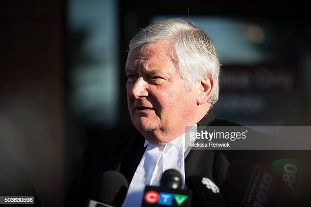 Toronto lawyer, Brian Greenspan, speak to the media after Marco Muzzo to pleads guilty in deadly Vaughan crash outside of the Newmarket Courthouse.