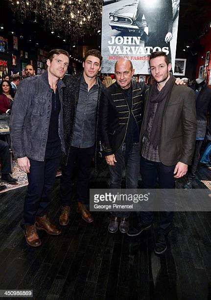 Toronto Maple Leaf Hockey players David Clarkson and Joffrey Lupul Fashion Designer John Varvatos and Toronto Maple Leaf Hockey player Jonathan...