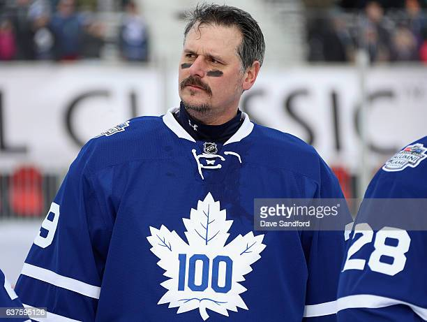 Toronto Maple Leafs alumni goaltender Felix Potvin looks on before playing in the 2017 Rogers NHL Centennial Classic Alumni Game against the Detroit...