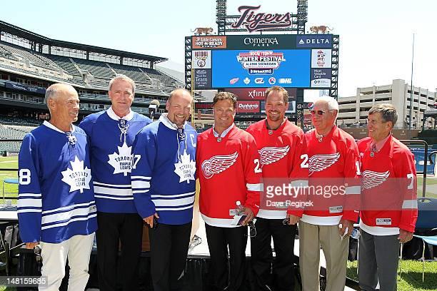 Toronto Maple Leafs Alumni members Jim McKenny Kevin Maguire Wendel Clark Detroit Red Wings Alumni members Dino Ciccarelli Joe Kocur Alex Delvecchio...
