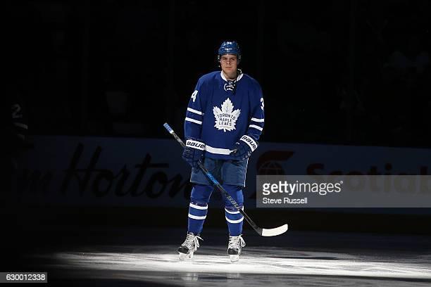 TORONTO ON DECEMBER 15 Toronto Maple Leafs center Auston Matthews during warmups as the Toronto Maple Leafs lose to the Arizona Coyotes in shootout...