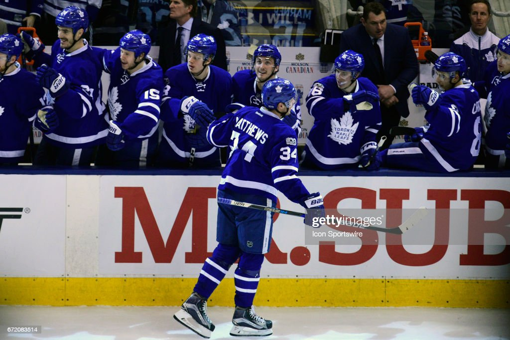 NHL: APR 23 Round 1 Game 6 - Capitals at Maple Leafs : News Photo