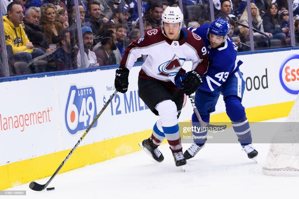 NHL: JAN 14 Avalanche at Maple Leafs : Foto jornalística