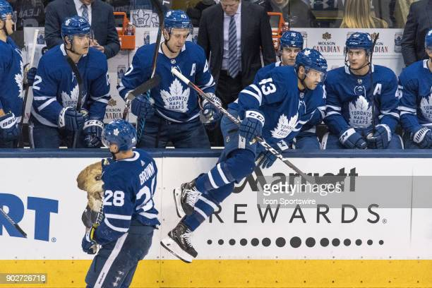 Toronto Maple Leafs Center Nazem Kadri jumps over the boards during the regular season NHL game between the Vancouver Canucks and the Toronto Maple...