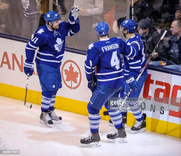TORONTO ON DECEMBER 5 Toronto Maple Leafs center Nazem Kadri scores the first goal for the Toronto Maple Leafs during the game between the Toronto...