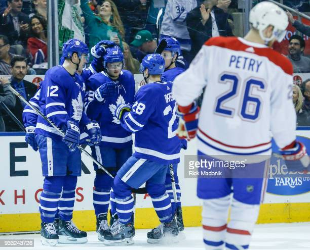 Toronto Maple Leafs center William Nylander celebrates his goal Toronto Maple Leafs VS Montreal Canadiens during 1st period action in NHL regular...