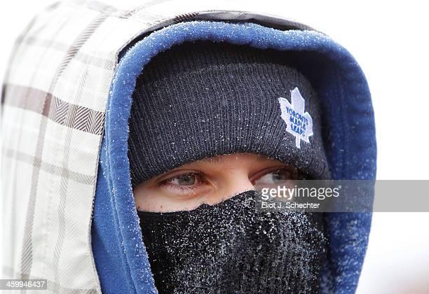 Toronto Maple Leafs fan attends the 2014 Bridgestone NHL Winter Classic on January 1 2014 at Michigan Stadium in Ann Arbor Michigan