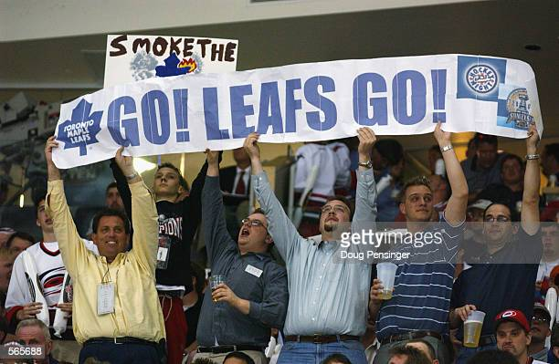 Toronto Maple Leafs fans celebrated in the south as the Leafs defeated the Carolina Hurricanes 21 in game one of the Eastern Conference Final series...