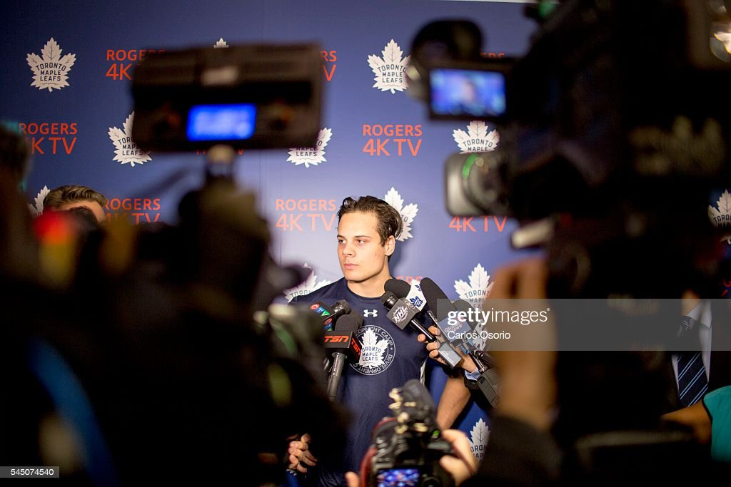 Toronto Maple Leafs First Pick Auston Matthews Particpates In The Leafs Development Camp : News Photo