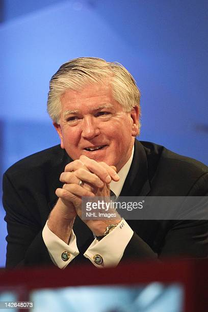 Toronto Maple Leafs General Manager Brian Burke at the NHL Draft Lottery on April 10 2012 at the TSN Studios in Toronto Ontario Canada