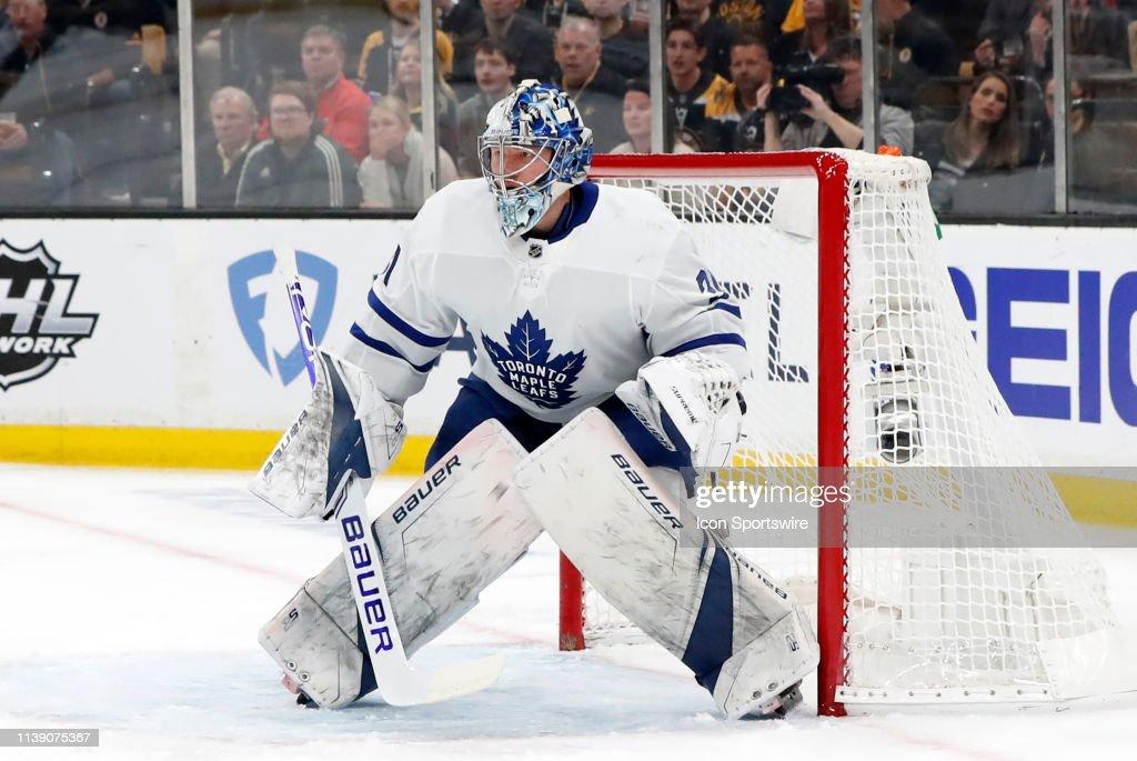 Toronto Maple Leafs Goalie Frederik Andersen Eyes A Defensive Zone