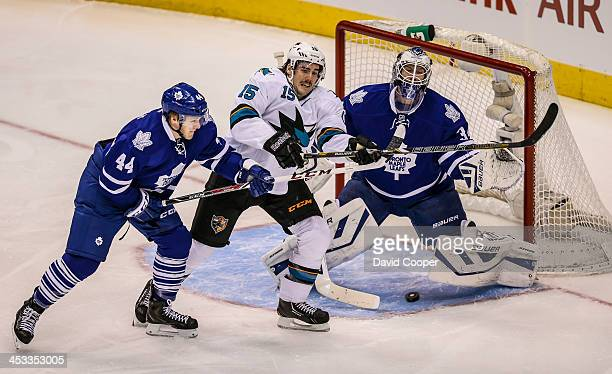 TORONTO ON DECEMBER 3 Toronto Maple Leafs goalie James Reimer had a busy first period giving up 2 goals on 13 shots as the Toronto Maple Leafs take...