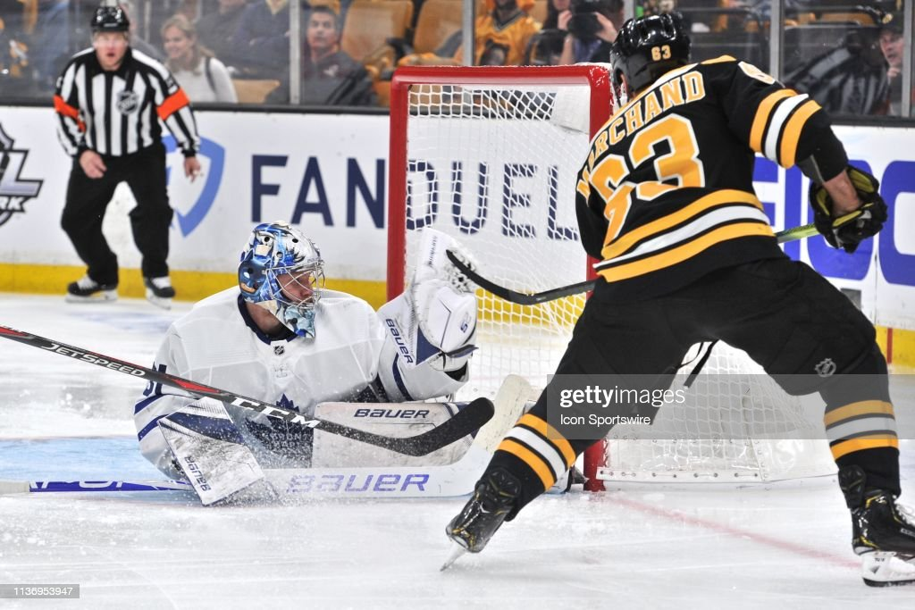 NHL: APR 13 Stanley Cup Playoffs First Round - Maple Leafs at Bruins : News Photo
