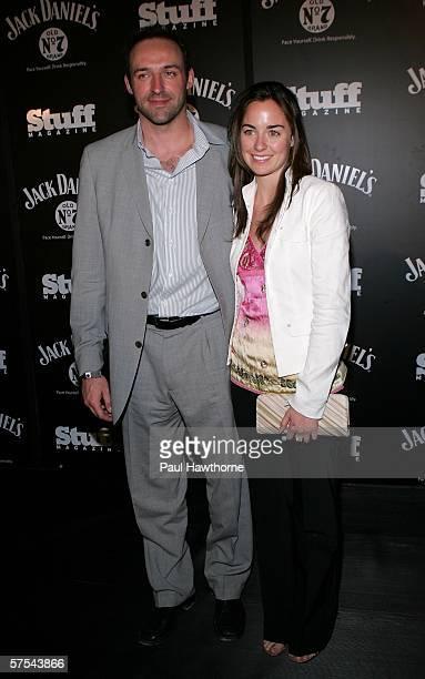 Toronto Maple Leafs Jason Allison and Cheryl Lynn Littler attend the Stuff Magazine Jack Daniels Kentucky Derby party held at Jillians on May 5 2006...