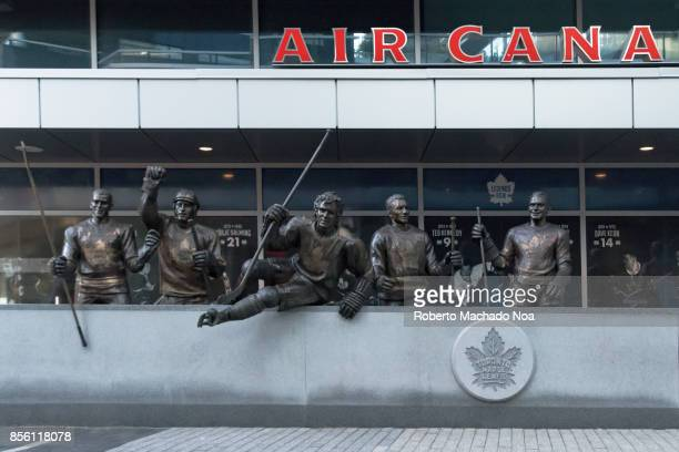 Toronto Maple Leafs Legends Row hockey sculpture outside the Air Canada Centre The bronze statues remind fans of the teams glory days