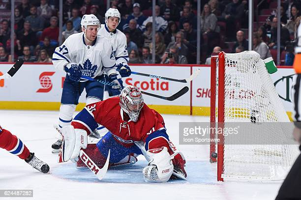 Toronto Maple Leafs Winger William Nylander scores the first Maple Leaf goal of the game during the Toronto Maple Leafs versus the Montreal Canadiens...